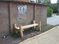 Bench without railings