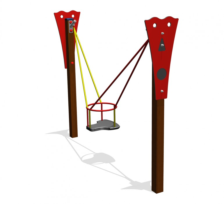 Toddler swing with toddler seat