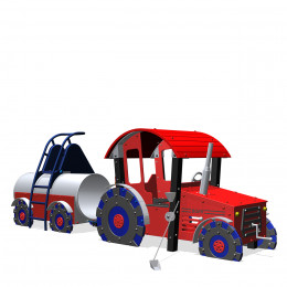 Tractor + manure wagon