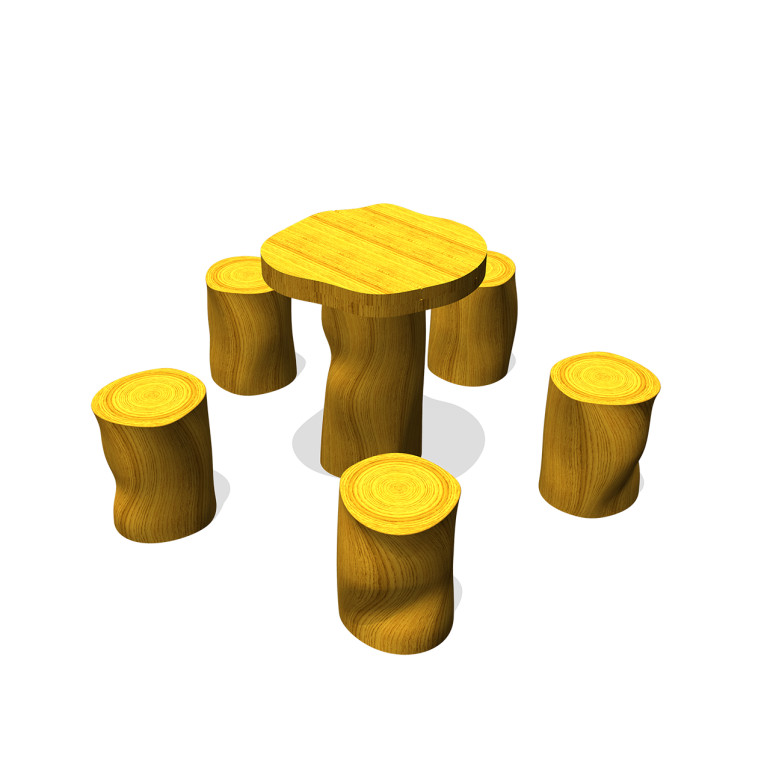 Toddler stools with table