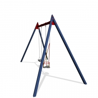 Double swing with 1 toddler seat